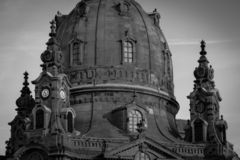 Dresden old town with Frauenkirche stock image