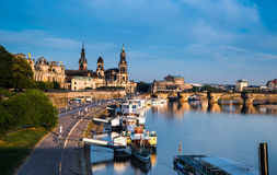 Dresden Old Town on the river Stock Photography