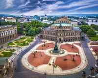 Dresden Opera House. Dresden, Germany over Theater Square and the Semperoper Opera House Royalty Free Stock Photo