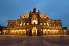 Dresden Opera House Royalty Free Stock Image