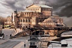 Dresden Opera House, retro toning Royalty Free Stock Image