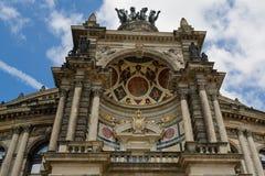 Dresden opera Semperoper Fotografering för Bildbyråer
