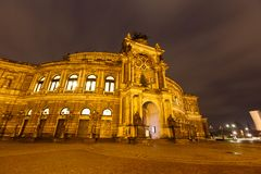 Dresden Opera Theatre at night Royalty Free Stock Images