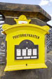 Dresden, painted yellow mailbox Stock Image