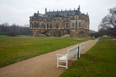 Dresden Palais Grosser Garten Bench in Germany in Europe. Dresden Palais Grosser Garten Bench in Germany in a Europe royalty free stock photos