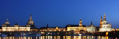 Dresden-Panorama stockbild
