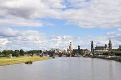 dresden panorama- germany Royaltyfria Bilder