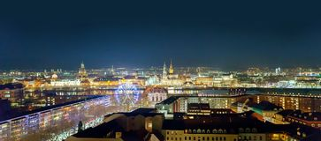 Night view of Dresden, Germany, December 2017 Royalty Free Stock Images