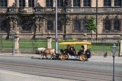 Dresden-Pferdewagen Stockfotografie