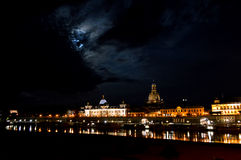Dresden. This picture was taken in Dresden-Germany during a full moon Royalty Free Stock Photography