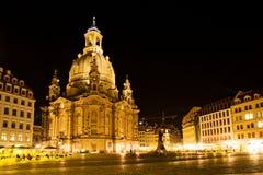 Dresden przy noc 6 Obrazy Royalty Free