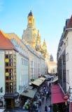 Dresden que hace turismo Fotos de archivo