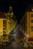 Dresden-Restaurantmeile Stockfotos