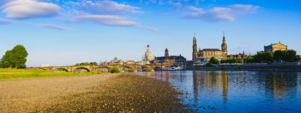Dresden and river elbe Royalty Free Stock Images