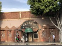 The Dresden Room Restaurant in Los Angeles. Los Angeles, CA: April 5, 2018: The Dresden Room Restaurant, a local independent restaraunt in the Los Feliz area Stock Photo