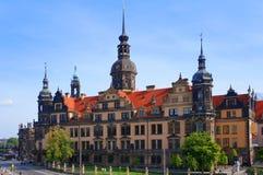 Dresden Royal Palace (slotten), Tyskland Royaltyfri Fotografi