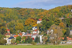 Dresden's countryside  in autumn colors Royalty Free Stock Photography