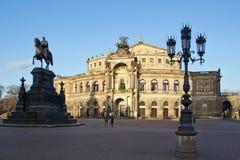 Dresden Semper opera arkivbild