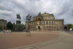 Dresden Semperoper 03 Royalty Free Stock Photography