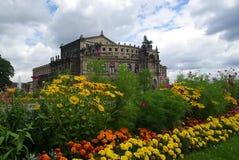 Dresden Semperoper 04 Royaltyfria Bilder