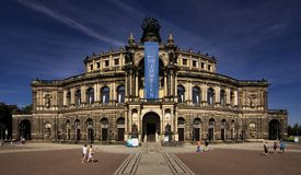 Dresden - Semperoper Royalty Free Stock Photo