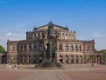 Dresden Semperoper stockbild