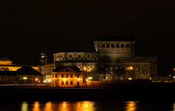 Dresden Semperoper night Stock Images