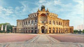 Dresden - Semperoper, Tyskland - Tid schackningsperiod lager videofilmer