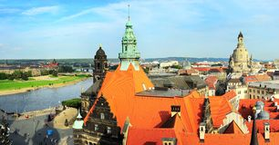 Dresden skyline Royalty Free Stock Photography