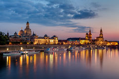 Dresden-Skyline Lizenzfreies Stockbild