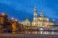 Dresden skyline in the evening, Germany Stock Photos