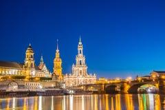 Dresden skyline Royalty Free Stock Image