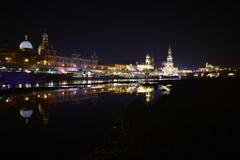 Dresden-Skyline-Spiegel Lizenzfreies Stockfoto