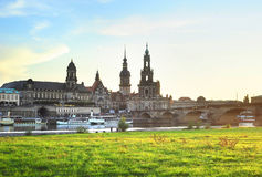 Dresden skyline Royalty Free Stock Images