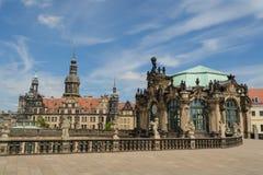 Dresden slott och Zingeren Fotografering för Bildbyråer