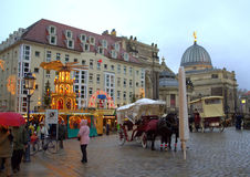 Dresden square at Christmastime Stock Images