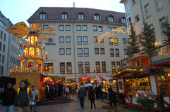 Dresden square at Christmastime Royalty Free Stock Photos