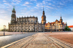 Dresden square, Germany, Hofkirche Stock Photography
