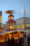 Dresden-Straße an der Weihnachtszeit Lizenzfreie Stockbilder