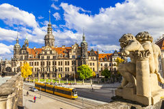 Dresden, streets of old town Royalty Free Stock Photo