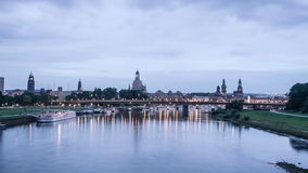 Dresden Sunrise. Time lapse sequence of dawn in Dresden stock video