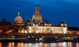Dresden at sunset Royalty Free Stock Photo