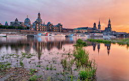 Dresden at sunset, Germany Royalty Free Stock Photography