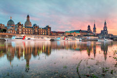 Dresden at sunset, Germany Royalty Free Stock Images