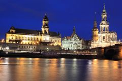 Dresden at sunset Royalty Free Stock Photos