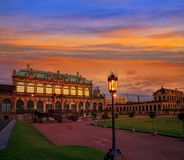 Dresden Zwinger in Saxony Germany Stock Images