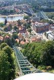 Dresden Suspension Railway tracks, river Elbe and bridge Stock Images