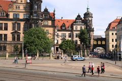 Dresden tourists, Germany Stock Images