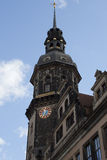 Dresden Tower of Katholische Hofkirche Royalty Free Stock Photography