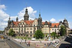 Dresden Triangulationssäule Schlossturm 02 Stock Photography